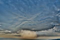 Evil cloud.... (rienschrier) Tags: thunder sky face cloud gezicht hdr onweer wolken