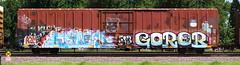 Erupto/Goreb (quiet-silence) Tags: graffiti graff freight fr8 train railroad railcar art erupto goreb gtb a2m vts d30 boxcar miniridge up unionpacific mp794766