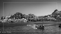 Cabo San Luca Mexico (Net Fishermen) (bryanasmar) Tags: cabo san lucas mexico fishermen net small boat marina sony a7rii zeiss 2835