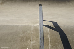 Handrail (mydoghasnono.se) Tags: skateboard skate skatepark park concrete minimal abstract metal rail bannister hard