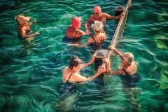 In The Mix (rosiebondi) Tags: pool summer people water street streetphotography leisure australia sydney