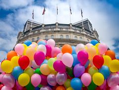 Trafalgar Square Pride (DobingDesign) Tags: pridelondon prideinlondon gaypride2017 lgbtqi balloons colours sky looking up latex fun celebration festive festival parade
