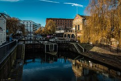 Happier times for the lock (Anthony P26) Tags: camden category england flickrpost london places travel canon1585mm canon70d canon canal water watercourse lock camdenlock lockgate reflections reflection path sky bluesky travelphotography british britain greatbritain english