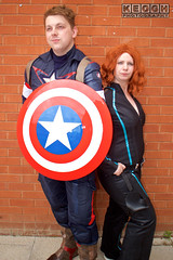 IMG_1810.jpg (Neil Keogh Photography) Tags: shield marvel theavengers stars blue cosplayers armour pants tv comics red female backpack male top jumpsuit film brown wintersoldier videogames boots black cosplay captainamerica marvelcomics blackwidow white