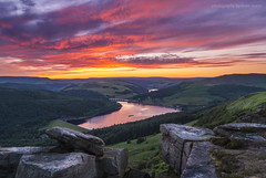 Bamford Edge Sunset (marc_leach) Tags: landscape ladybower reservoir peakdistrict darkpeak highpeak bamfordedge summer sunset nikon