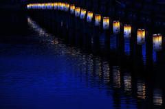 Nightscape #4 (daniel0027) Tags: nightscene nightscape lamplight bridge gungnamjipond reflection koreanlamp water ripple