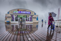 Wet Day on Bournemouth Pier (D-W-J-S) Tags: bournemouth pier seaside beach rain wet reflections canon 6d tokina 1017mm fisheye lens