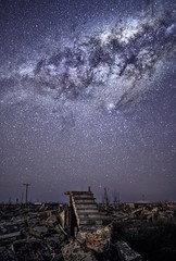 The night after (karinavera) Tags: travel sonya7r2 view building architecture night epecuen starry dramatic abandoned sky milkyway longexposure stars urbex structure starrynight