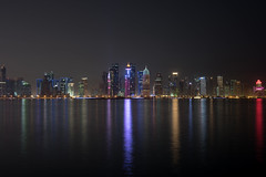 Doha! (aliffc3) Tags: doha qatar skyscrapers nightshot waterfront reflections nikond750 zeiss50mpf2