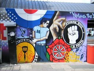Manchester  -  multicoloured artistic street art. = FANTASTIC