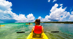 Kayaking Great Stirrup Cay, Bahamas (jason.betzner) Tags: kayak bahamas blue green ocean water carribbean tropics summer cruise norwegiangem clouds sky outdoors outside gopro hero 4 silver