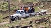Bloody tourists (Hans van der Boom) Tags: holiday vacation southafrica lesotho zuidafrika semonkong maseru people pickup truck transport lso