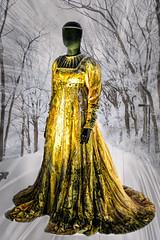 Pierrefonds Female Model (Bobinstow2010) Tags: female model dress yellow castle france french pierrefonds snow background arty topaz photoshop