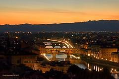 Florence at Dusk  DSC_4617 (Chris Maroulakis) Tags: firenze florence sunset dusk pontevecchio nikond7000 chris maroulakis 2017
