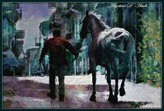 Il cavallo - Giugno-2017 (agostinodascoli) Tags: art digitalart digitalpainting animali cavallo impressionismo agostinodascoli fotoshop photopainting texture creative cianciana sicilia nikon nikkor colore fullcolor