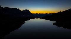 Waiting for the sun (Dani Maier) Tags: schweiz klausenpass ch sonnenaufgang berge see bergsee alpen nacht morgengrauen