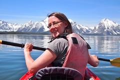 Kayaking Jackson (keppet) Tags: grandteton grandtetonnationalpark nationalpark wyoming notmycamera kayak colterbay