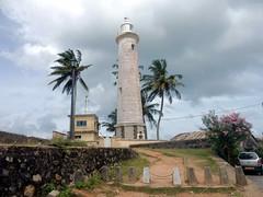 Sri Lanka Leuchtturm   Lighthosue from Galle Fort (flashpacker-travelguide.de) Tags: srilanka asien asia leuchtturm lighthouse westküste westcoast galle gallefort palmen palmtrees