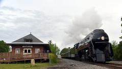 6-611HeadedThruPamplinToPetersburg (T's PL) Tags: nikontamron tamronnikon tamron18270f3563diiivcpzd tamron18270 611 611excursion5617 611excursion5617lynchburgtopetersburg 611excursionlynchburgtopetersburg d7200 nikon nikond7200 nikondslr pamplinva tamron tamron18270mmf3563diiivcpzd va virginia train railroad steam smoke locomotive depot building brick