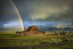Grand Teton Moulton Barn 1 (Jason Blalock) Tags: grandteton grandtetonnationalpark grandtetons grandtetonsnationalpark gntp wyoming mormonrow moultonbarn moultonbarns johnmoulton johnmoultonbarn rainbow doublerainbow