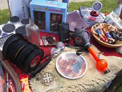 Flea Market Table - 2017 (Jeremy Enda) Tags: ocean grove new jersey shore beach flea market gas mask