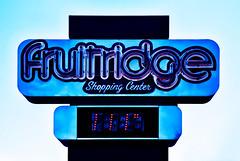 Fruitridge (Carrie McGann) Tags: fruitridgeshoppingcenter sacramento sign neonsign neon temperature ididntstayherelong iprobablywouldnotcomebackatnight 061917 nikon interesting