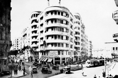 Jun 1941 - Hotel Morandi (Doss Building) cnr Soliman Pasha St & Fouad Avenue, central Cairo, Egypt - real photo post card - circa 1930s