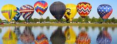 Gulf Coast Hot Air Balloon Festival - Foley, Alabama (fisherbray) Tags: fisherbray usa unitedstates alabama baldwincounty foley canon eosrebel eosrebelt6 gulfcoasthotairballoonfestival balloon hotairballoon sportscomplex panorama autostitch