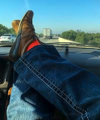 10... (MacroMarcie) Tags: shoes car freeway 365 self selfie project365 countdown almostdone iphone7 iphone7plus
