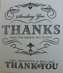Sending You a Big Thank You (Issy Stamps) Tags: thank you