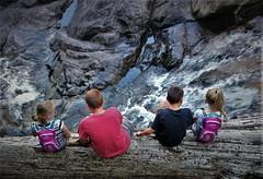 Bumps On a Log (michael.veltman) Tags: kids log waterfall cascade bridal veil seattle washington