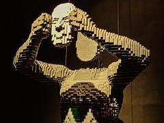 Closeup of Mask by Lego artist Nathan Sawaya (mharrsch) Tags: mask lego sculpture art nathansawaya artofthebrick exhibit omsi oregonmuseumscienceandindustry oregon mharrsch