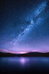 Mongaup Pond (geraldberliner) Tags: dailynaturetnc13 nightphotography longexposure sara milkyway astrophotography