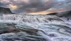 Intercept (Howard L.) Tags: canonef1635mmf4lisusm gullfoss ilce7rm2 iceland sonya7rii splash motion wave sunset foam abstract clouds waterfalls