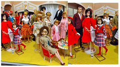 WHAT'S HAPPENING AT BARBIE'S FASHION SHOP (ModBarbieLover) Tags: 1965 barbie fashion shop vintage doll glamour gold skipper ken american girl boutique 1964 swirl