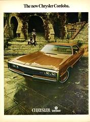 1970 Chrysler Cordoba Ad Pg. 1 (aldenjewell) Tags: 1970 chrysler cordoba newport hardtop ad