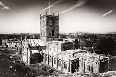 St Davids Cathedral & Bishops palace... (AJFpicturestore) Tags: stdavids cathedral pembrokeshire wales hiddengem monochrome blackwhite