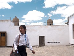 Young Girl in the Ark Fortress in Bukhara, Uzbekistan (deemixx) Tags: uzbekistan bukhara ark silkroad streetphotography