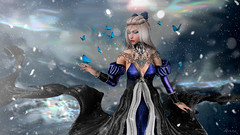 Flashes (•ღ Anita ღ•) Tags: applier bento blue butterfly catwa head dark fabia fantasy hair fair maitreya moon amore nails tattoo the crystal heart darkness monthly event white widow ys