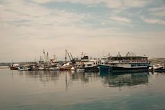 Fishing boats in Silivri (oskaybatur) Tags: silivri türkiye turkey turkei landscape marmara june summer 2017 oskaybatur reflection dalyanbalıkrestaurant pentaxkr justpentax pentaxart sky clouds cloudy