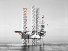 Santa Fe's drilling rig, Galaxy 1, (davidstyles1) Tags: drilling offshore oilandgas offshoredrilling offshoreoilandgas oil jackup northsea black