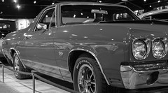 SS El-camino (weejono) Tags: haynes motor museam cars black white chrome glass fuji xt2 35mm f2