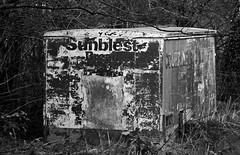 Sun blest? Dont think so! (wontolla1 (Septuagenarian)) Tags: macclesfield canal walking walk hiking hike cheshire sunblest van box loaf bread abandoned old forgotten