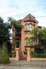 old house by the railway with Bangalow Palm (Archontophoenix cunninghamiana) (Poytr) Tags: house stanmore sydneyaustralia italianate queenanne colonial bangalowpalm archontophoenixcunninghamiana archontophoenix palm building villa architecture nsw australia residence arfstreettree clayton arecaceae