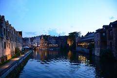 Leie river in old town Gent (België 2017)