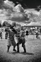 It's just a flesh wound (Dan Haug) Tags: osgoodemedievalfestival july 2017 skirmish sword fight blacknight montypython festival xt2 xf50140mm xf50140mmf28rlmoiswr fujfilm