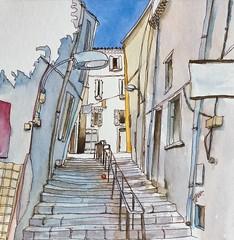 """""""Les petites rues"""" (5) La Ciotat (alainhonoratlefebvre dit """" ALHO """") Tags: laciotat aquarelle ruelles"""