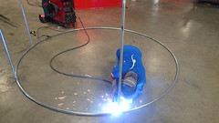 Welding Frame For Fyke Trap