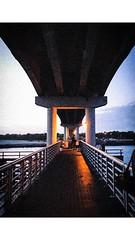 Burned bridges. Melbourne, 2017. (GenMD) Tags: water sky night dusk fishing terrible freelance art color ocean temperature grain florida bridges iphone7 iphone photography