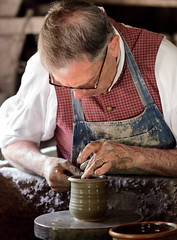 In the Zone (Chancy Rendezvous) Tags: potter pottery wheel clay cup redware osv osvorg old sturbridge village hands skill artist artisan craft craftsman nikon nikkor d500 chancyrendezvous